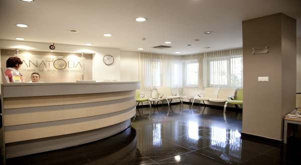 Anatolia IVF Center reception area